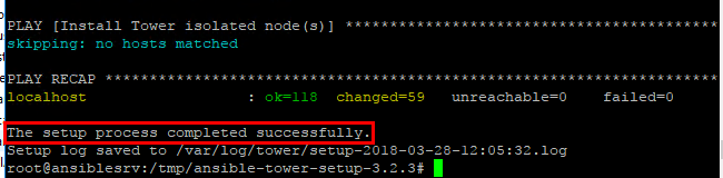 Ansible-Tower-installation-completed-successfully