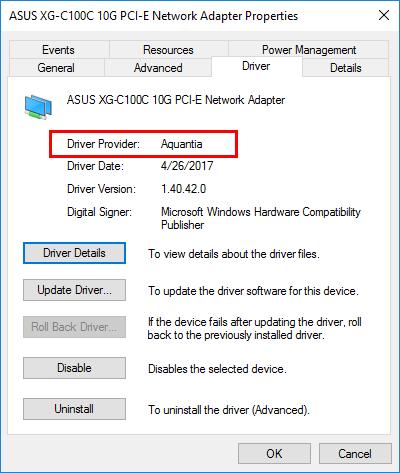 Asus-XG-C100C-10G-NIC-driver-details Asus XG-C100C 10G NIC Windows Server 2016 VLANs Jumbo Frames