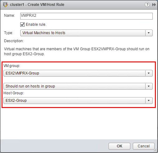 Attach-host-group-to-VM-group-for-second-host Configuring Veeam Virtual Appliance Mode for VMware vSAN