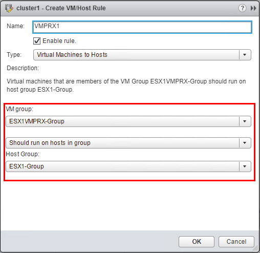 Attach-host-groups-to-VMs-groups-for-first-host Configuring Veeam Virtual Appliance Mode for VMware vSAN
