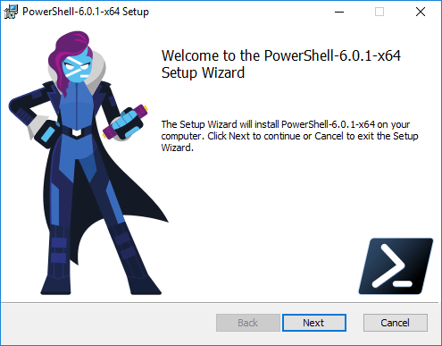 Beginning-the-install-PowerShell-Core-in-Windows-10 Installing PowerShell Core PowerCLI 10.0 in Windows 10
