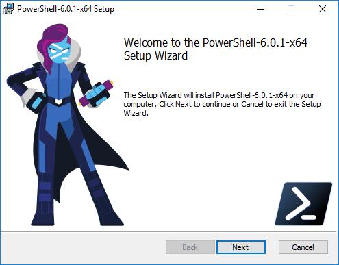 Beginning-the-install-PowerShell-Core-in-Windows-10