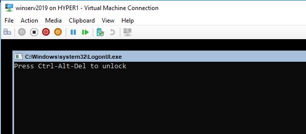Booting-the-Windows-Server-2019-Virtual-machine-in-Hyper-V Installing and Configuring Windows Server 2019 and Project Honolulu