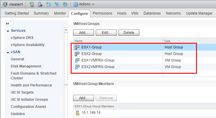 Both-host-groups-and-VM-groups-added Configuring Veeam Virtual Appliance Mode for VMware vSAN