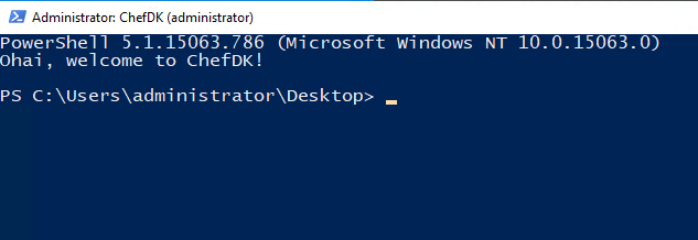 Chef-Development-Kit-PowerShell-prompt-with-modules-installed