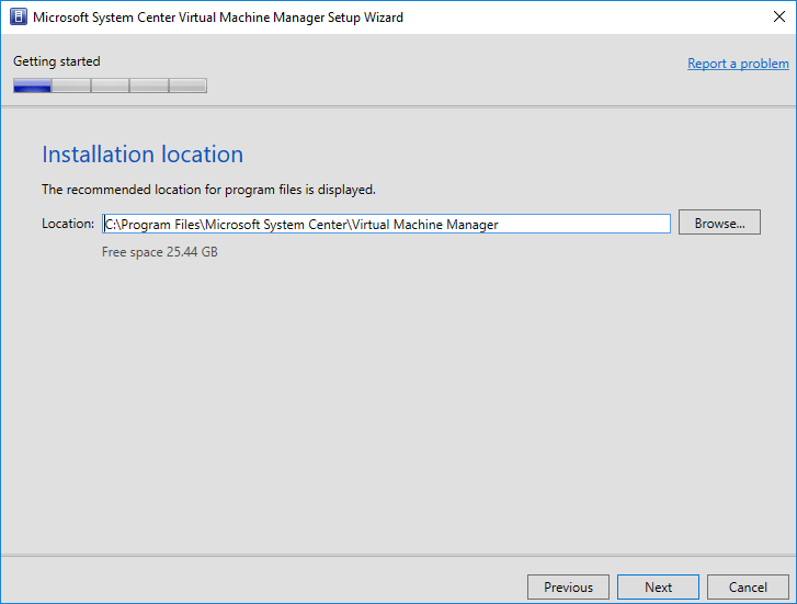 Choose-an-installation-location-for-SCVMM-1801 System Center Virtual Machine Manager 1801 New Features and Installation