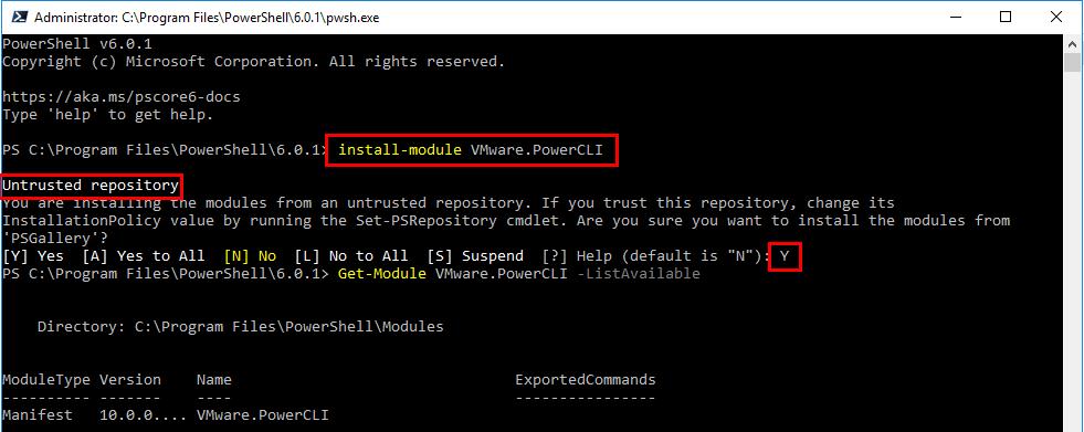 Installing-PowerCLI-10.0-in-PowerShell-Core-in-Windows-10