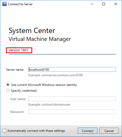 Launching-and-logging-into-SCVMM-1801-for-the-first-time System Center Virtual Machine Manager 1801 New Features and Installation