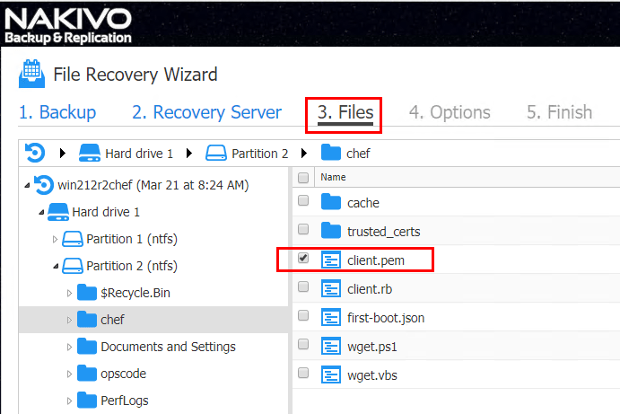 NAKIVO-Backup-Replication-Instant-File-Recovery-to-Source-choose-files