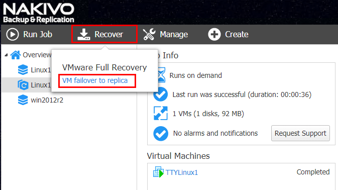 NAKIVO-Backup-Replication-v7.4-Creating-a-VM-failover-to-replica-job NAKIVO Backup and Replication v7.4 Beta Released Review of New Features