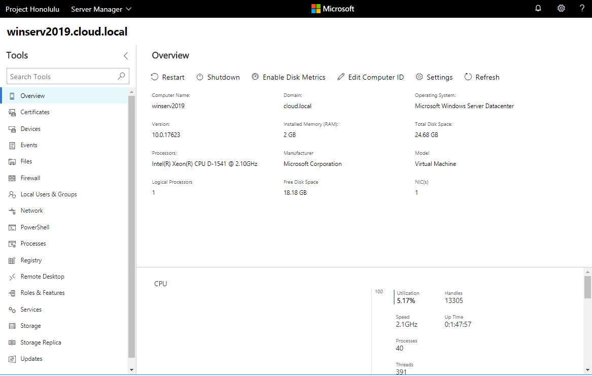 Installing and Configuring Windows Server 2019 and Project