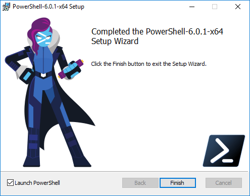 The-process-to-install-PowerShell-Core-in-Windows-10-completes Installing PowerShell Core PowerCLI 10.0 in Windows 10