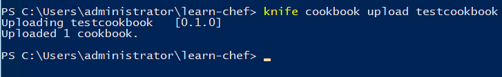 Uploading-a-cookbook-to-the-Chef-server Automating a Home Lab Windows Server with Chef