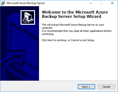 Begin-extracting-the-Microsoft-Azure-Backup-Server-installation-files Installing and Configuring Microsoft Azure Backup Server