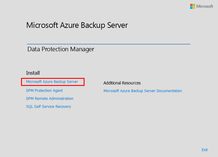 Begin-the-Microsoft-Azure-Backup-Server-installation Installing and Configuring Microsoft Azure Backup Server