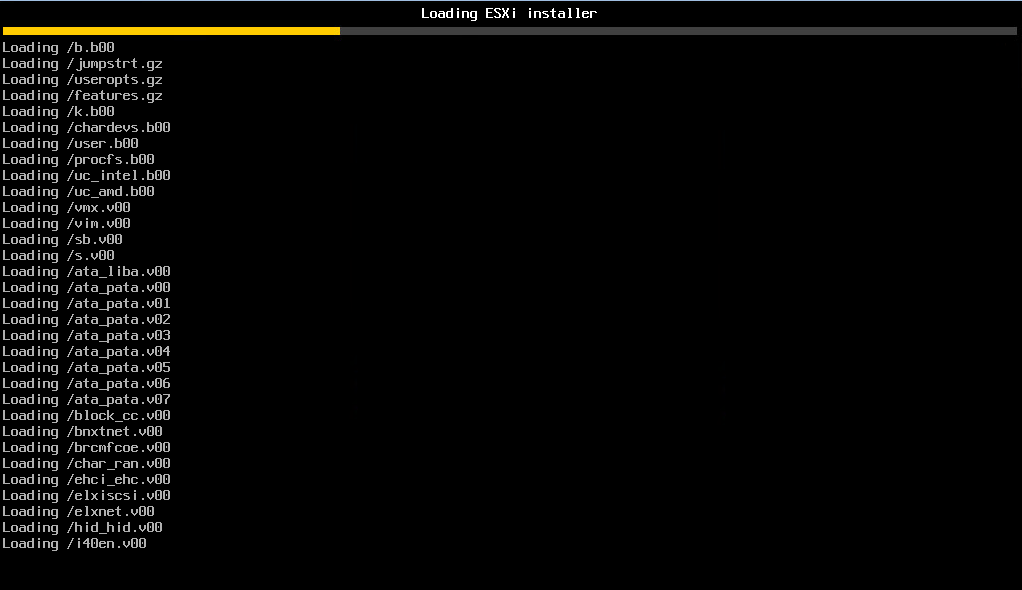 Booting-from-the-ESXi-6.7-ISO VMware vSphere ESXi 6.7 New Features Installing and Upgrading