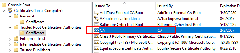 Import-the-vCenter-Server-certificate-into-the-Trusted-Root-Certificate-Authorities-store Connect VMware vCenter to Microsoft Azure Backup Server