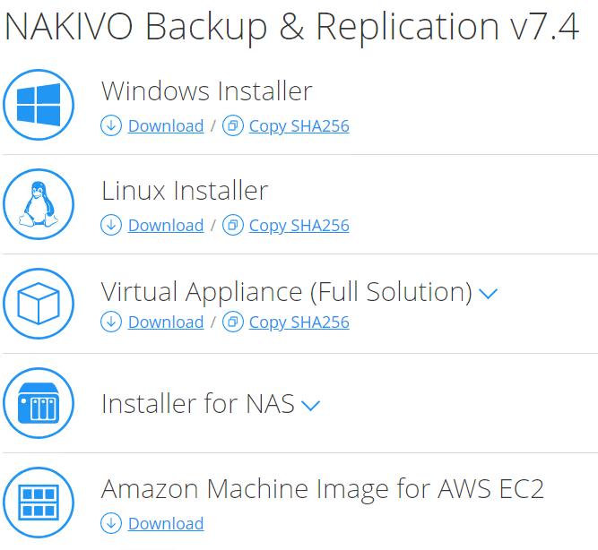 NAKIVO-Backup-and-Replication-v7.4-installation-options