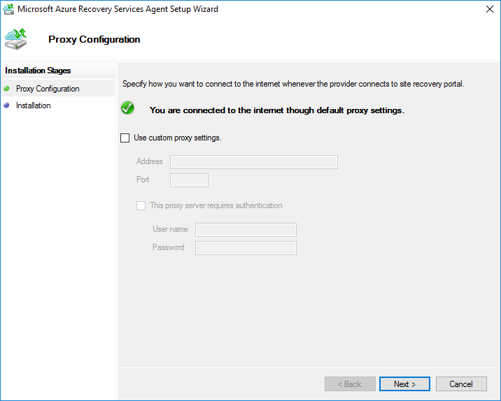 Proxy-configuration-settings-for-connectivity Installing and Configuring Microsoft Azure Backup Server