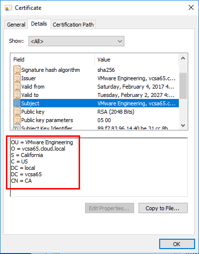 Verifying-the-CA-certificate-is-the-vCenter-certificate
