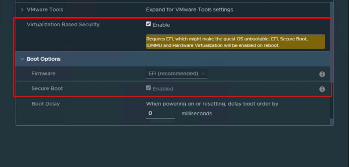 Enabling Windows 10 Virtualization Based Security with vSphere 6 7
