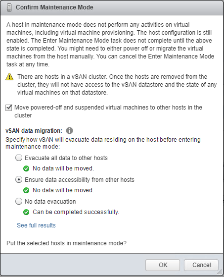 Evacuating-VMs-and-Data-from-a-vSAN-host-before-running-the-ESXi-6.7-upgrade Upgrading VMware vSphere vSAN 6.6 to 6.7