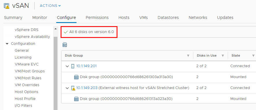HTML5-vSAN-disk-management-interface Upgrading VMware vSphere vSAN 6.6 to 6.7