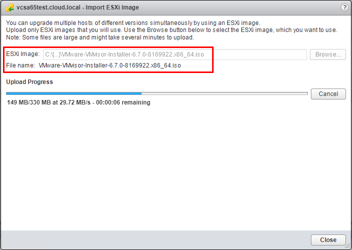 Importing-ESXi-6.7-to-Updated-Manager-using-the-Import-ESXi-Images-process Upgrading VMware vSphere vSAN 6.6 to 6.7