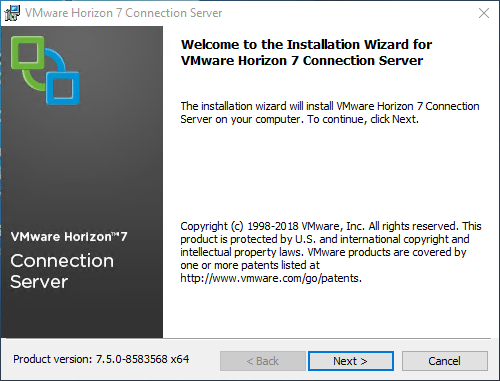 Installing-Horizon-7.5-Connection-Server VMware Horizon 7.5 Released with New Features
