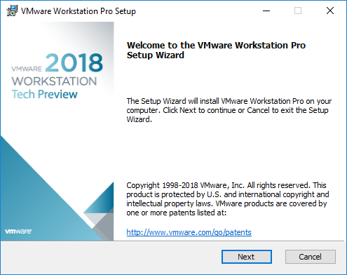 Beginning-the-VMware-Workstation-Pro-Tech-Preview-2018-Installation-Wizard VMware Workstation Pro Tech Preview 2018 Released with New Features