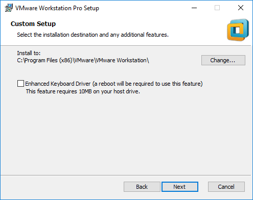 Choosing-installation-location-and-keyboard-drivero-options VMware Workstation Pro Tech Preview 2018 Released with New Features