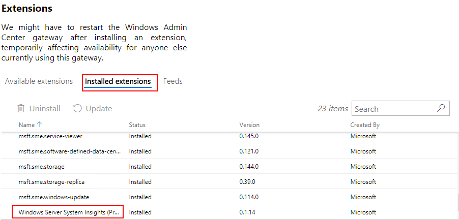 Confirming-Windows-Server-System-Insights-was-installed Windows Server System Insights Predictive Analytics Installation and Features