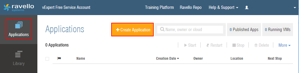 Create-a-new-Ravello-application-for-ESXi-6.7 Installing VMware vSphere ESXi 6.7 in Ravello Cloud Service