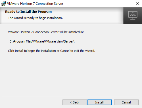 Installation-of-Horizon-7.5-Connection-Server-Ready-to-Begin Installing VMware Horizon 7.5 Connection Server