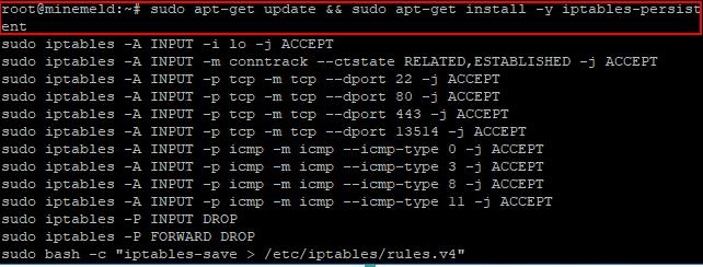 Installing-Palo-Alto-MineMeld-Setting-up-IPTables MineMeld Threat Intelligence Installation in VMware vSphere