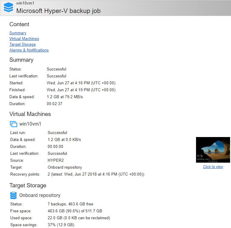 NAKIVO-Backup-Replication-Hyper-V-screenshot-verification-email-confirmation Verify Hyper-V Backups with NAKIVO Backup and Replication v7.4 Screenshot Verification