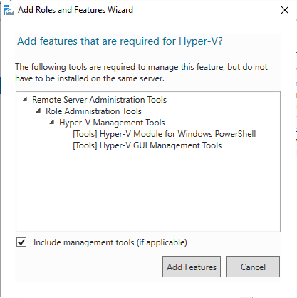 Adding-Hyper-V-required-features-in-Windows-Server-2019 Windows Server 2019 Preview 17709 with New Hyper-V Released