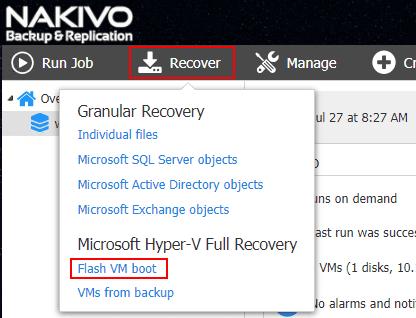 Choosing-to-Recover-using-NAKIVO-Flash-VM-Boot