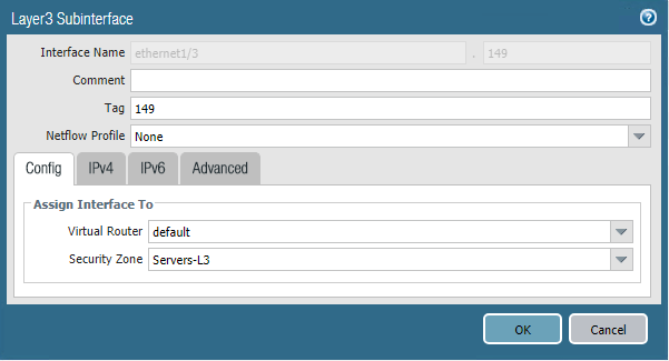 Configuring-a-Layer-3-Subinterface-with-VLAN-tag Installing and Configuring Palo Alto PA220 Home Lab Firewall