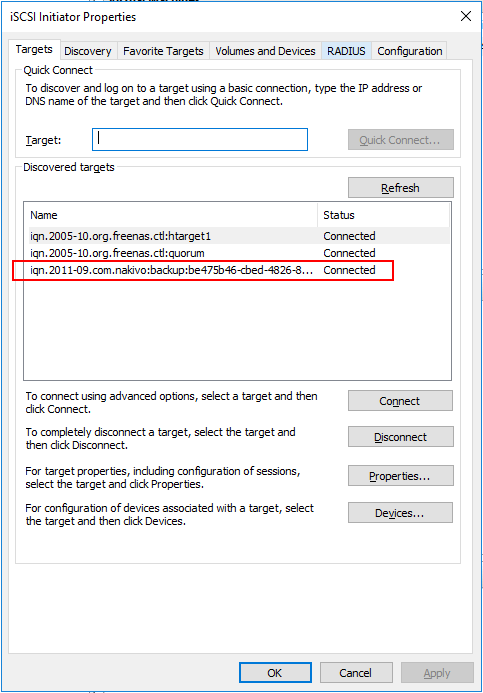 Hyper-V-NAKIVO-iSCSI-target-mounted-to-Hyper-V-host-with-Flash-VM-Boot-Recovery