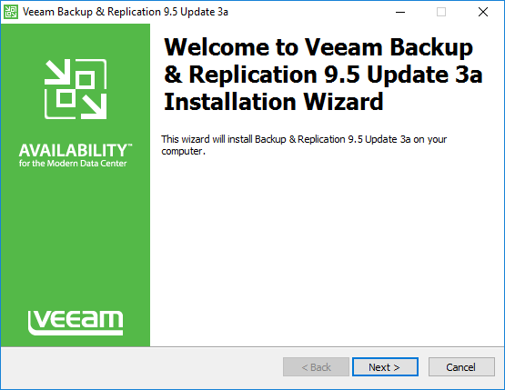 Veeam Backup and Replication 9 5 Update 3a with VMware