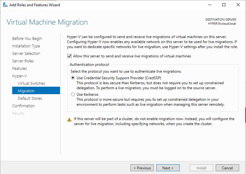 Live-Migration-settings-for-Hyper-V-Windows-Server-2019 Windows Server 2019 Preview 17709 with New Hyper-V Released