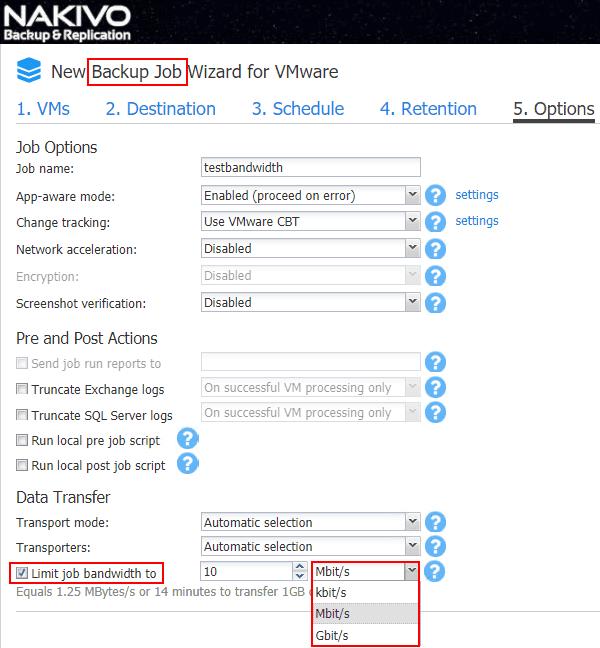 Throttle-Network-Backup-Traffic-NAKIVO-Bandwidth-Throttling-configuration