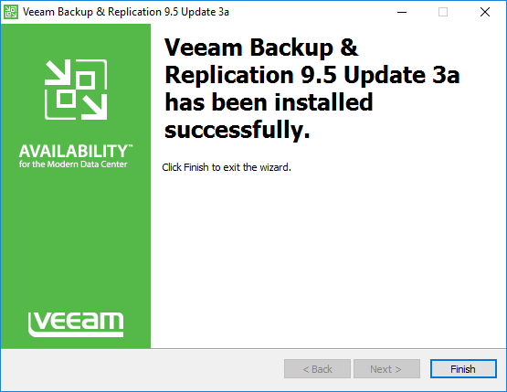 Veeam-Backup-Replication-9.5-Update-3a-upgrade-completed-successfully Veeam Backup and Replication 9.5 Update 3a with VMware vSphere 6.7 Support