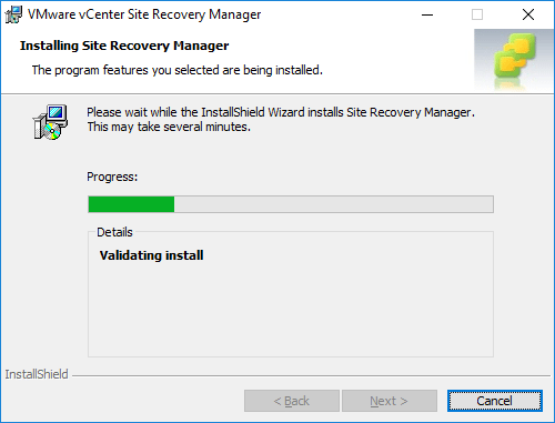 Actual-installation-process-begins-for-SRM Installing VMware vCenter Site Recovery Manager SRM 8.1