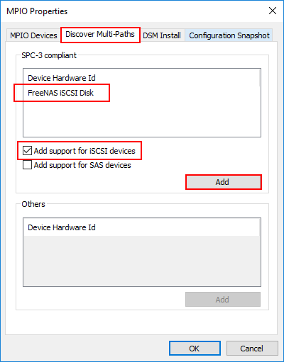 Add-support-for-iSCSI-devices-to-configure-MPIO-in-Hyper-V Hyper-V Cluster MPIO iSCSI Installation and Configuration