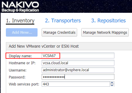 Adding-a-VMware-vSphere-6.7-connection-to-NAKIVO-Backup-Replication-v7.5 NAKIVO Backup and Replication v7.5 Released with vSphere 6.7 and Cross-Platform Support
