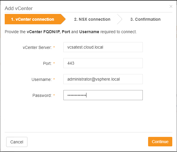 Adding-a-new-vCenter-Connection-in-Runecast-Analyzer VMware NSX Best Practices with Runecast Analyzer v1.8