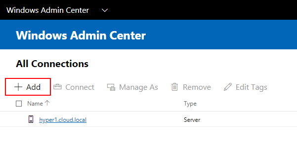 Adding-servers-to-be-managed-by-Windows-Admin-Center-Preview-1808 Windows Admin Center Preview 1808 Hyper-V Cluster and VM Management New Features