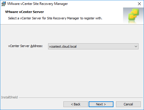 Configuring-the-vCenter-Server-address-installing-Site-Recovery-Manager Installing VMware vCenter Site Recovery Manager SRM 8.1